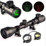 de la caza del alcance rojo de 3-9X50 E alcance óptico iluminado Milipulgada-PUNTO del arma y verde del rifle