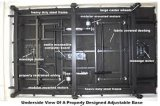 Camas ajustables eléctricos hospital lleno cama eléctrica del Hospital Mrolling cama