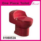 Toilette d'une seule pièce de rouge de vin d'éclat de remous de salle de bains de grès de Colourfull