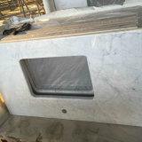 Итальянская верхняя часть ванной комнаты Carrara белая мраморный
