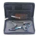 Las tijeras Titanium azules del pelo (085-S), acero inoxidable 440c, preparación profesional del pelo de la belleza del salón Scissor