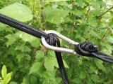 Erstklassige im Freien kampierende Nylonhängematte für zwei, mit Baum gurtet den Leichtgewichtler, Vertrag u. Portable für das Kampieren und wandert,