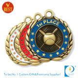 Medalha de prata feita sob encomenda do basebol da concessão do metal do finalista 3D do OEM