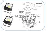 IP65 Waterproof a luz de inundação do diodo emissor de luz da ESPIGA 100W para a luz quadrada