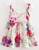Flores vestido de niña linda de los niños en ropa de niños (SQD-101-RED)