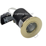 MAZORCA clasificada LED Downlight BS476 del fuego de cobre amarillo 5W GU10 Dimmable