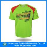 O Short do poliéster do verão dos homens da manufatura Sleeves o t-shirt
