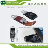 Disco instantâneo de couro, USB de couro da promoção, USB do couro gravado