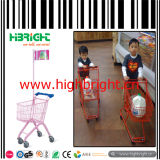 Chariot en plastique à main d'enfants de supermarché pour la location