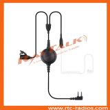 Écouteur acoustique de tube de surveillance par radio bi-directionnelle avec le grand bouton de PTTs