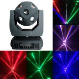 LED 10PCS*12W 두 배 마스크 이동하는 맨 위 광속 DJ 디스코 효력 축구 둥근 빛