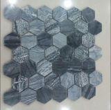 壁のクラッディング(FYSSC362)のための自然な灰色の石造りのモザイク・タイル