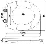 Flacher Entwurf passte gedruckte Harnstoff-Toiletten-Sitzdeckel an