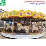 24 passeios do carrossel do parque de diversões dos assentos para a venda, alegres circundam