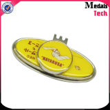 Custom Metal magnético sombrero Clip Marcador de pelota de golf barato