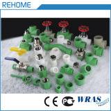 Tubo PPR plástico de cor verde de 63mm para abastecimento de água fria e quente