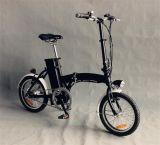 """16 """" 24V 10ahのリチウム電池(JSL016A-9)が付いている黒い小型バイク"""
