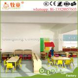 Mobilier scolaire vert de jardin d'enfants de série de pays pour l'éducation d'enfants