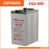 Batterie rechargeable de gel de la Chine 2V 500ah - UL de station-service
