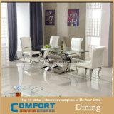 Mesa de jantar moderna moderna de aço inoxidável