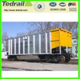 鉄道のホッパーワゴンRaiwayの容器平らなワゴン鉄道の貨物ワゴン