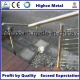 Ajustage de précision de tube en verre de pêche à la traîne de balustrade d'acier inoxydable