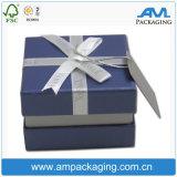 Pappe bildete Geschenk-Verpackungs-Schmucksachen hölzern wie Kasten mit Kappe und Unterseite