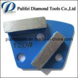 Trapezoide metal pulido del cojín para pulir suelos de hormigón