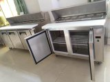 Double Door Stainless Steel Tipo de Freezer Pizza Prep Table Chiller
