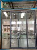 Woodwin hochwertiger doppelter ausgeglichenes Glas-thermischer Bruch-Aluminiumschiebetür