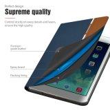 Caso de couro retro europeu de 4 casos do iPad de um Auaua de 7.9 polegadas mini com película da proteção de Sleepwake +Screen da tampa esperta a auto