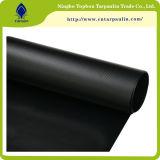 22oz頑丈な100%黒いPVCビニール上塗を施してあるカラー防水シート