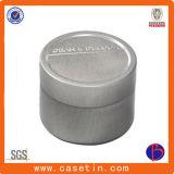 Exquisito metal de la manera cilindro metálico de jabón caja de la lata