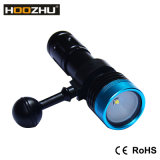 Hoozhu V11 잠수 영상 가벼운 크리 말 Xm-L2 LED는 100m를 방수 처리한다