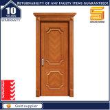Modèle en bois de porte principale de placage de teck composé en bois solide intérieur