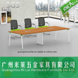 Mesa de reuniones recta de la conferencia de la oficina conceptora con la pierna del acero inoxidable