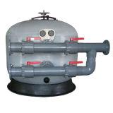 el receptor de papel de agua de la piscina del diámetro del 1.6m Cara-Monta el filtro de arena en sistema de tratamiento de aguas