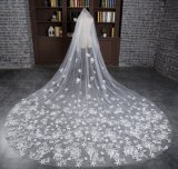 Brandnew длина собора вуаль цвета слоновой кости венчания в 3 метра с Appliques
