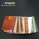 Tarjeta de acrílico del acrílico de la hoja del grano de madera