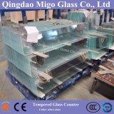 Stilvoller Glas Fernsehapparat-Tisch-Oberseiten/Glas Fernsehapparat-Standplatz auf Wand