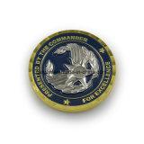 Moneta militare di sfida di colore dello smalto dell'aquila del metallo