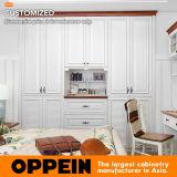 Oppein weiße Thermofoil eingehängte eingebaute eingehängte Garderobe (PLYP17023-058)