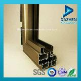 Profil en aluminium personnalisé d'extrusion de porte de guichet avec différentes couleurs