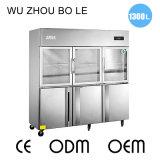 Двойной холодильник дверей температуры 6 для кухни