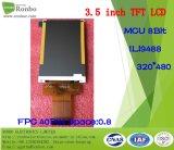 """3.5 """" 320*480 MCU 16bit TFT LCD Bildschirmanzeige, IS: Ili9488, FPC 40pin für Position, Türklingel, medizinisch, Autos"""