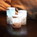 Vela electrónica de la vela sin llama LED de la cera del pilar de Brich para la boda y el cumpleaños