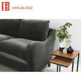 Mobília verde moderna do sofá de Loveseat de veludo do estilo