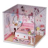 2017 het Roze Houten Huis van Doll van het Stuk speelgoed DIY voor Jonge geitjes