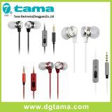ワイヤーで縛られたイヤホーンは音3カラー耳のイヤホーンを雇う