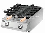 De elektrische Machine/Taiyaki van het Viscroquetje met het Vullen van het Roomijs